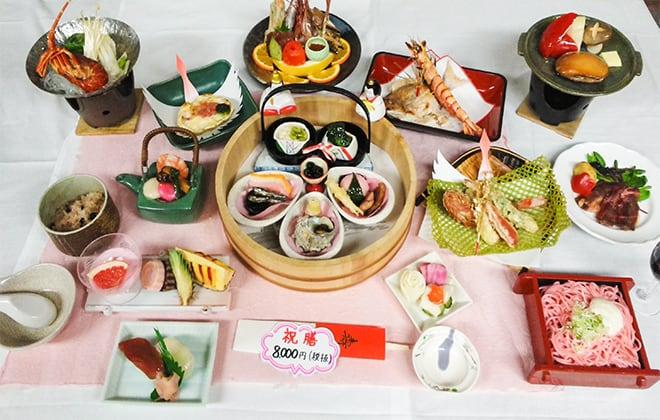 お祝い膳8,000円(税別)