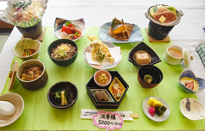 法要膳5,000円(税別)