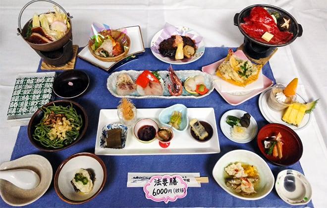 法要膳6,000円(税別)